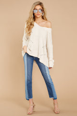 2 Bring It To Light Ivory Sweater at reddressboutique.com