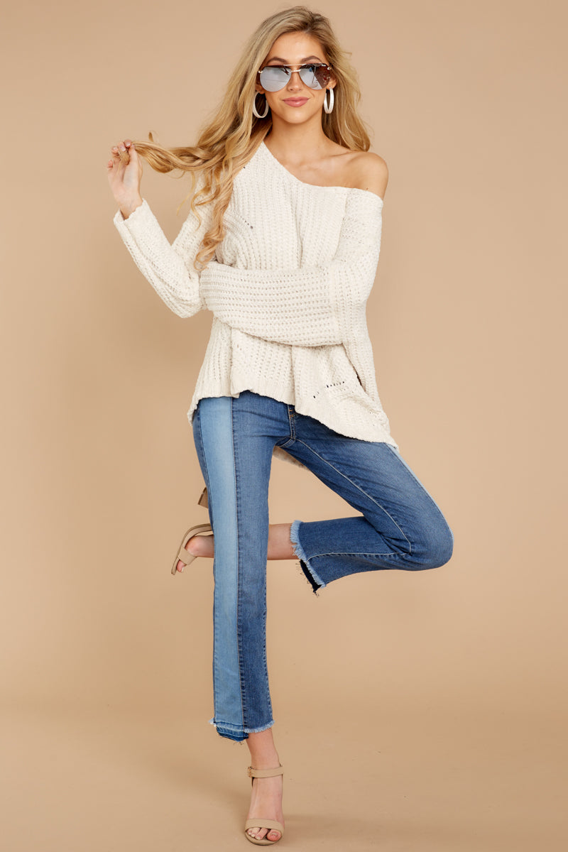 1 Bring It To Light Ivory Sweater at reddressboutique.com