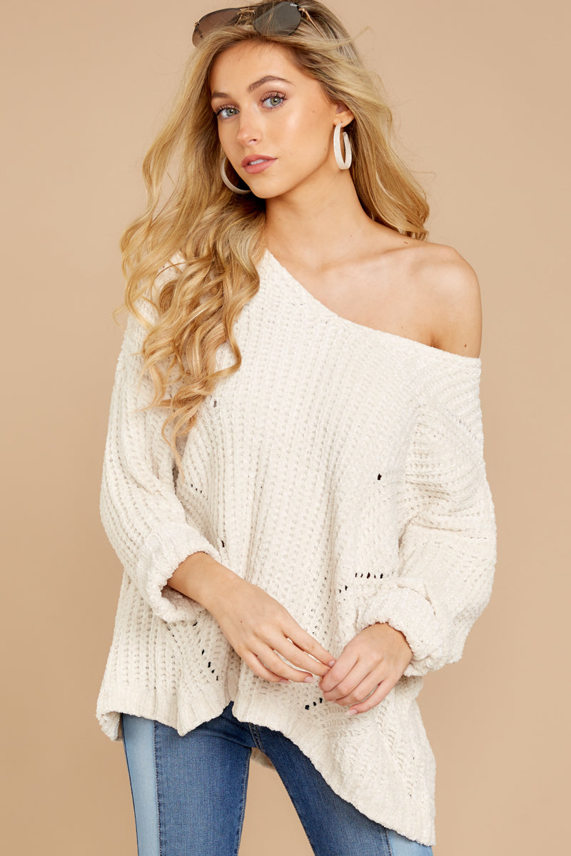 3 Bring It To Light Ivory Sweater at reddressboutique.com