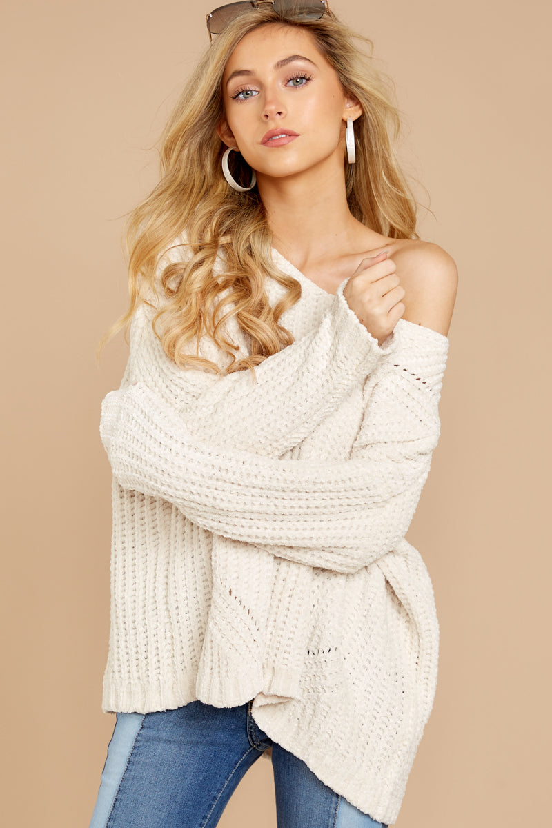 4 Bring It To Light Ivory Sweater at reddressboutique.com