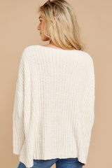 5 Bring It To Light Ivory Sweater at reddressboutique.com
