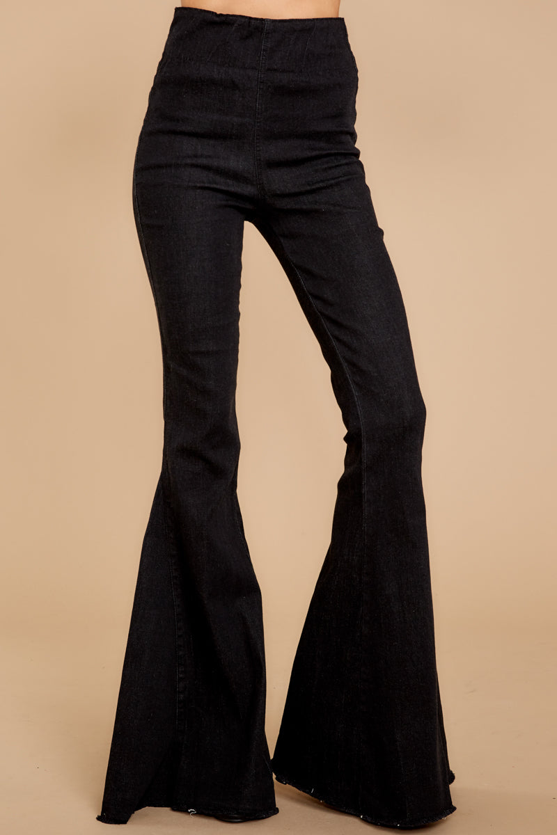 1 Diggin' These Black Flare Jeans at reddress.com