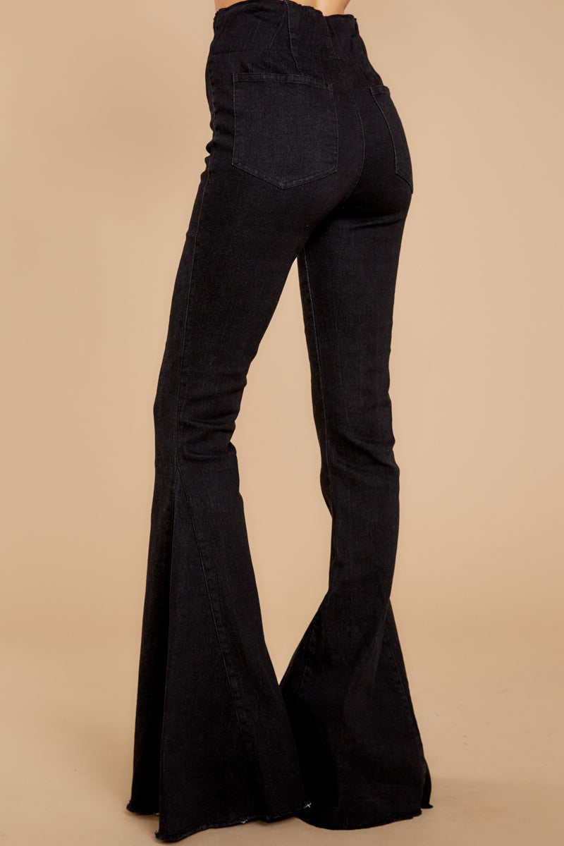 4 Diggin' These Black Flare Jeans at reddress.com