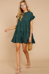 3 Nothing More Nothing Less Green Dress at reddressboutique.com