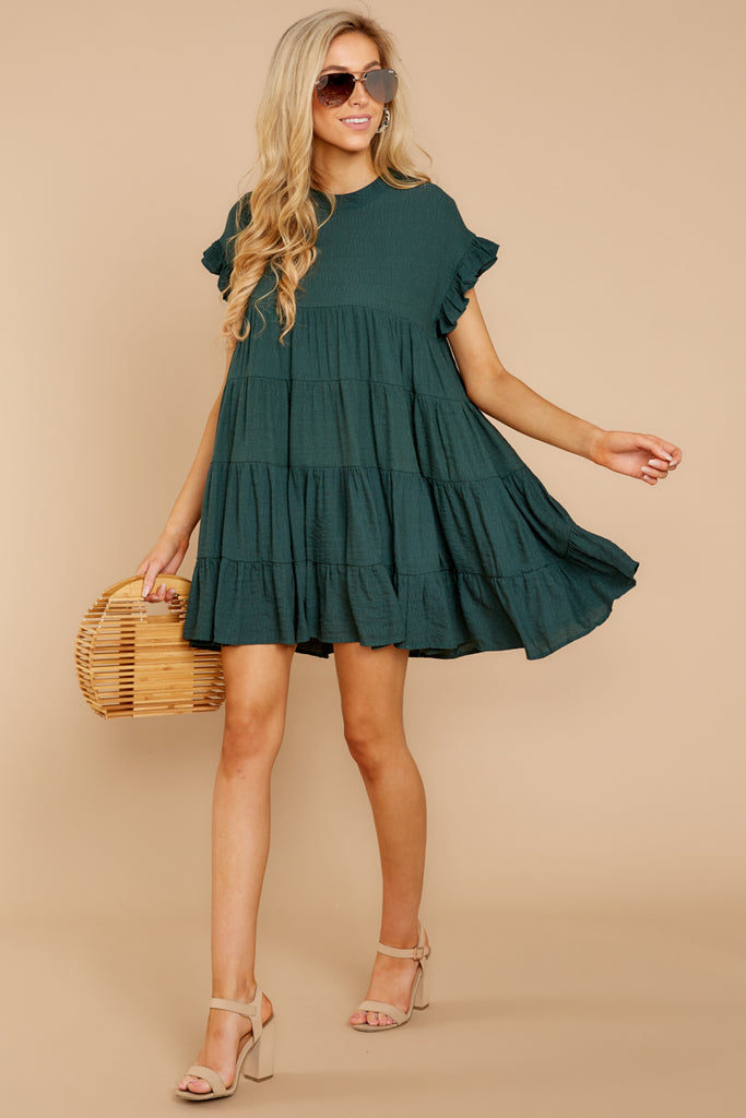 6 Never Wait Rosin Green Dress at reddressboutique.com