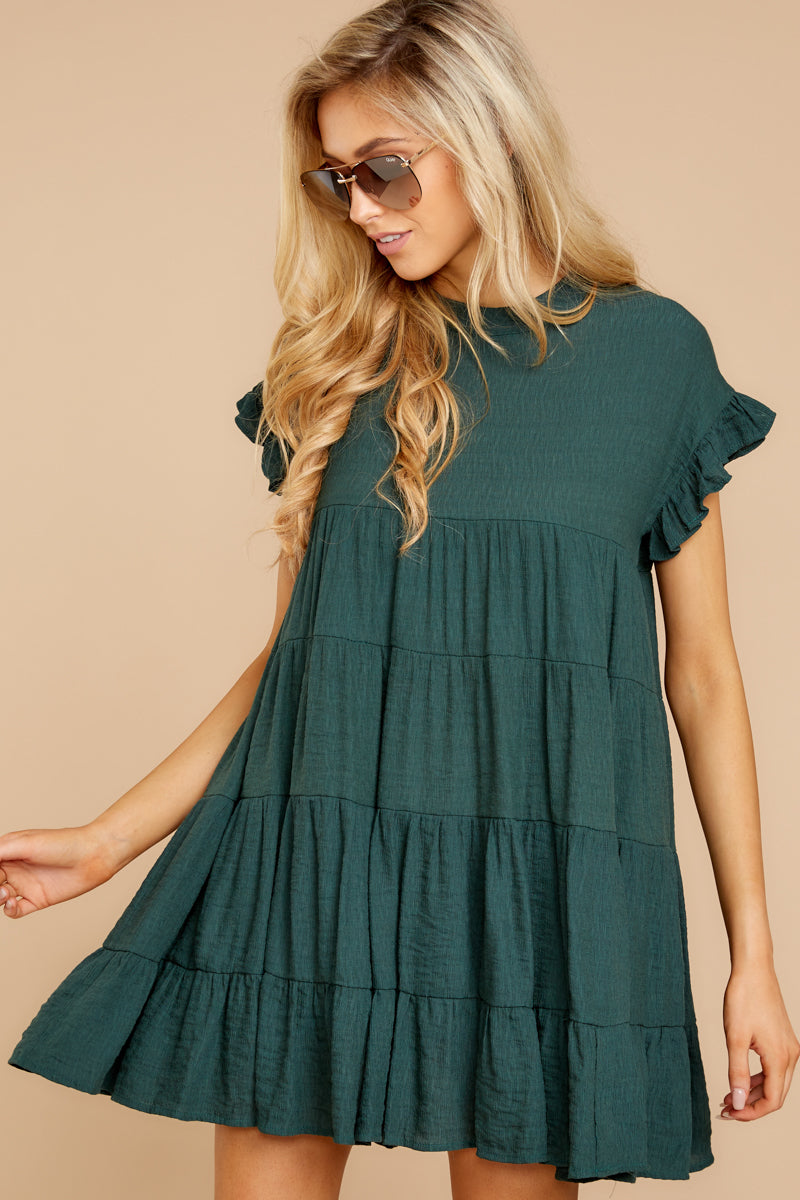 6 Nothing More Nothing Less Green Dress at reddressboutique.com