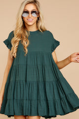 7 Nothing More Nothing Less Green Dress at reddressboutique.com
