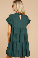 9 Nothing More Nothing Less Green Dress at reddressboutique.com
