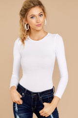1 Need It To Be White Bodysuit at reddressboutique.com