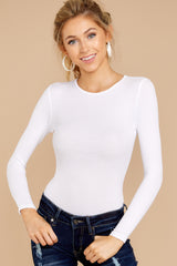 3 Need It To Be White Bodysuit at reddressboutique.com