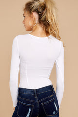 4 Need It To Be White Bodysuit at reddressboutique.com