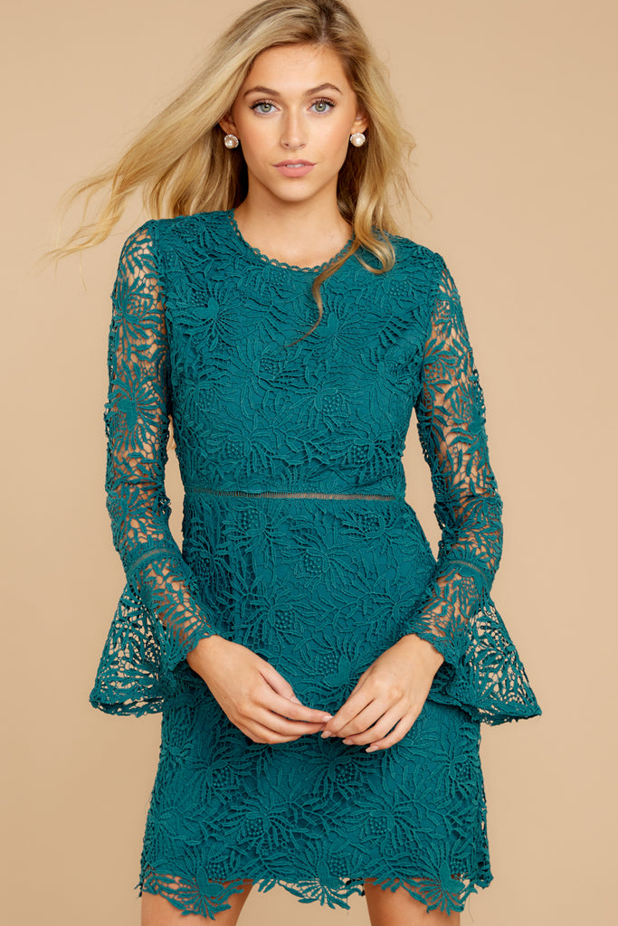When We Lace Met Teal Lace Dress