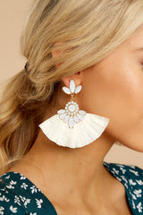3 Nothing Like Before White Statement Earrings at reddressboutique.com
