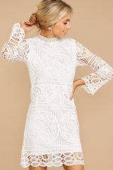 4 Final Impression White Lace Dress at reddressboutique.com