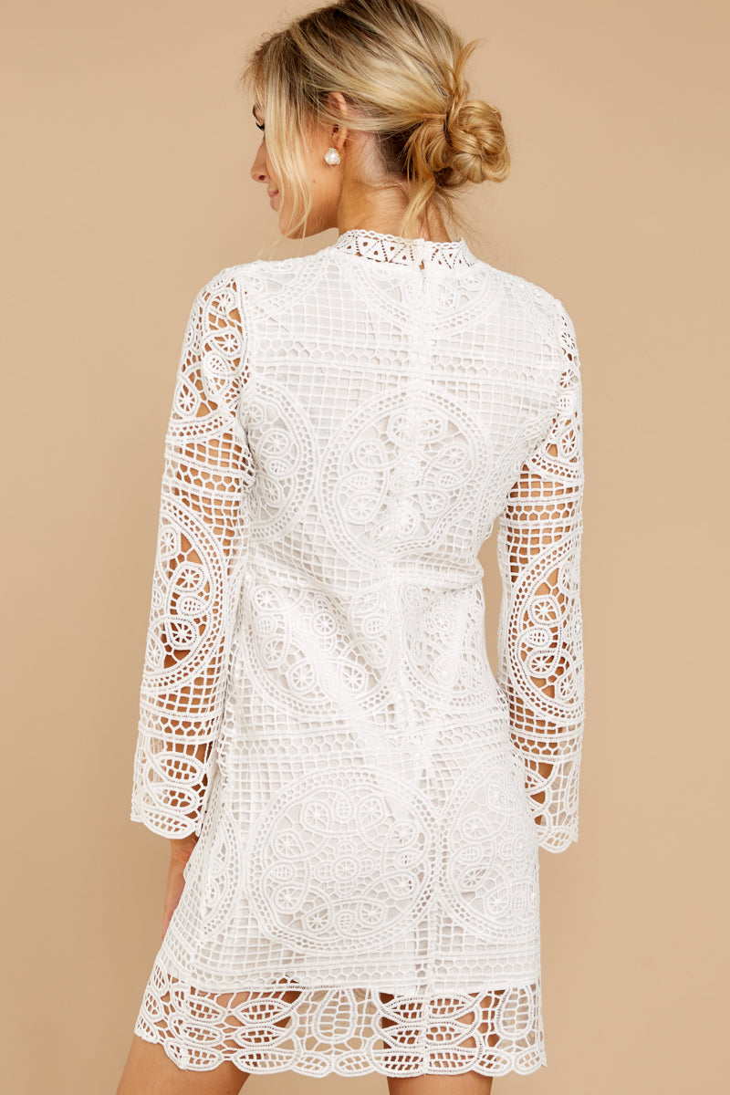 6 Final Impression White Lace Dress at reddressboutique.com