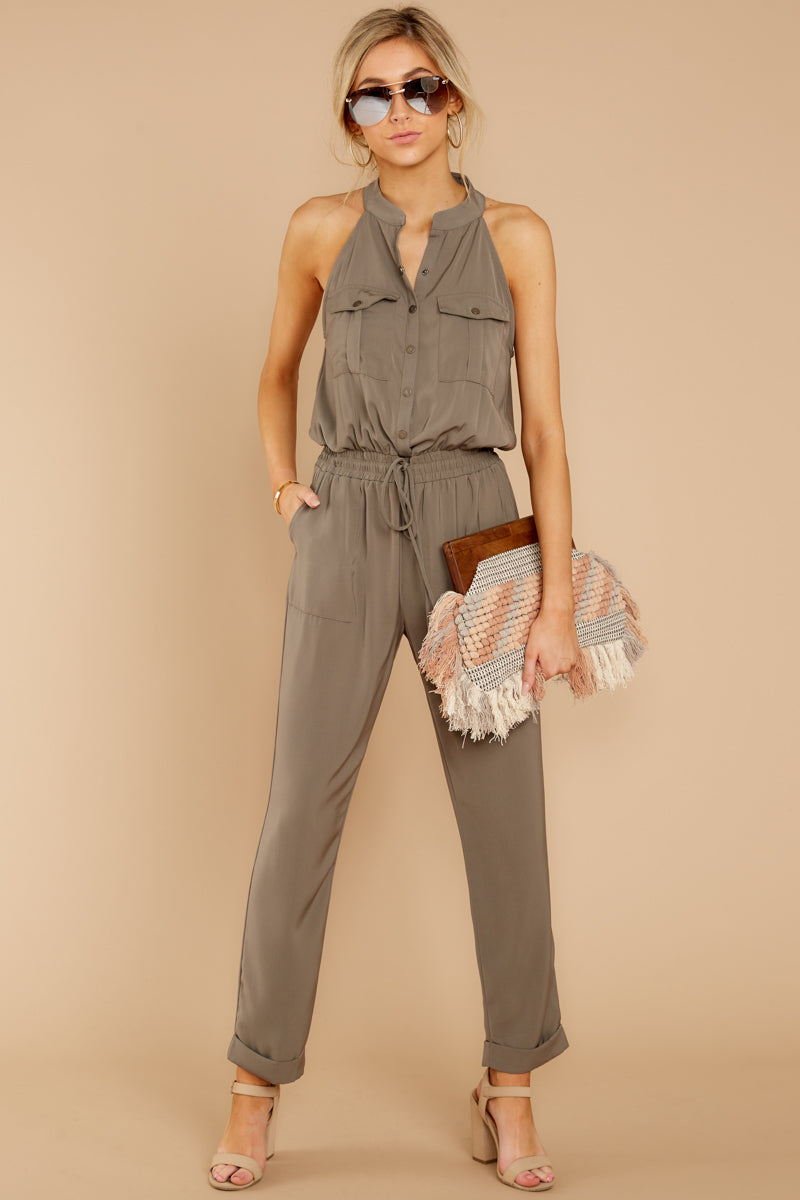 1 Talk It Up Olive Jumpsuit at reddress.com