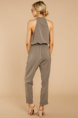 5 Talk It Up Olive Jumpsuit at reddressboutique.com