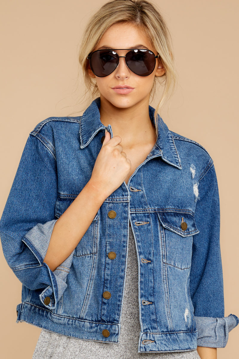 3 It's Gotta Be Done Medium Wash Denim Jacket at reddressboutique.com
