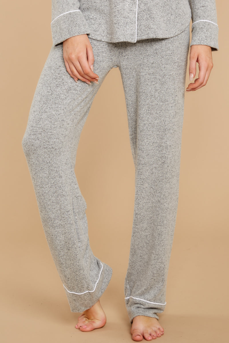 1 Luxe Menswear Pajama Pant In Heather Grey at reddressboutique.com