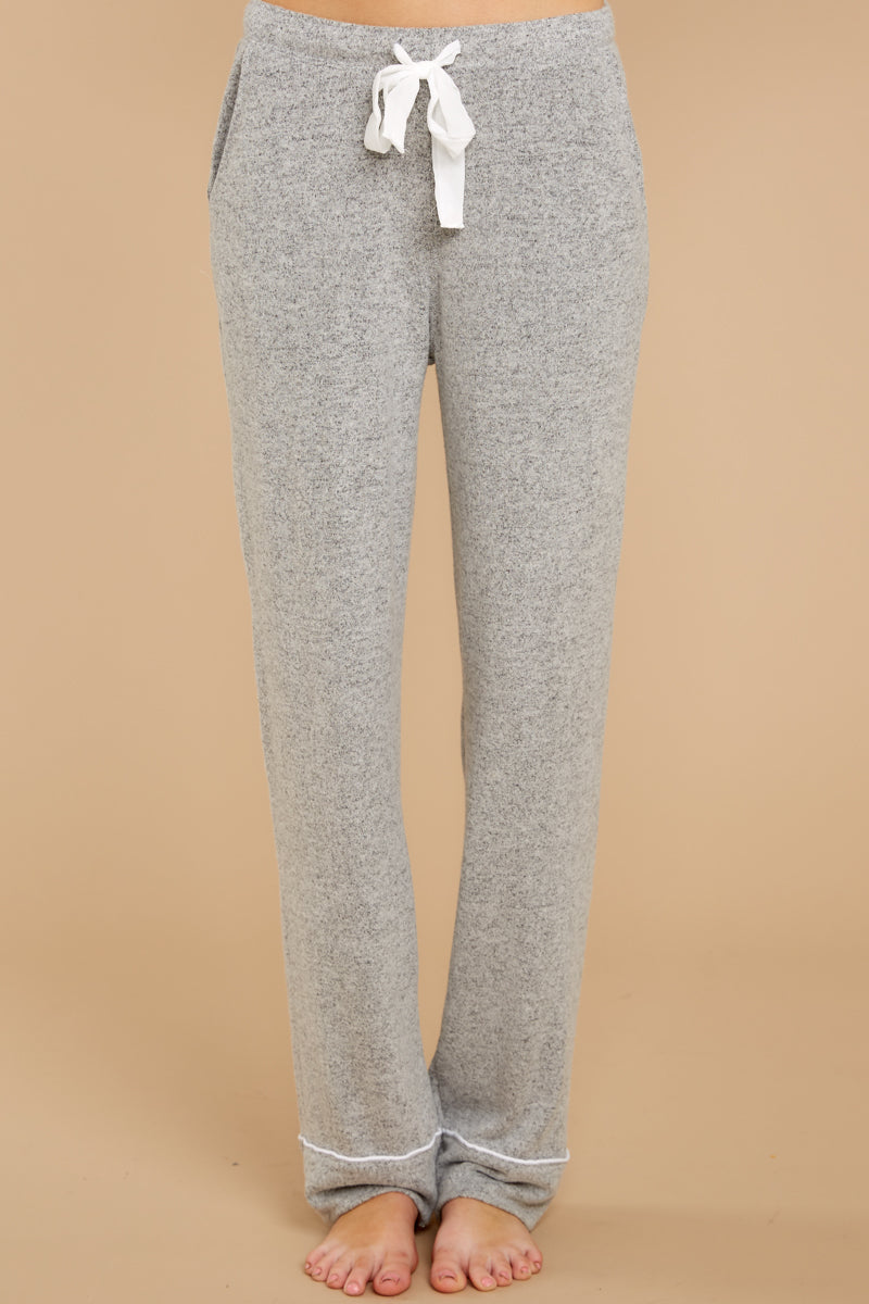 2 Luxe Menswear Pajama Pant In Heather Grey at reddressboutique.com