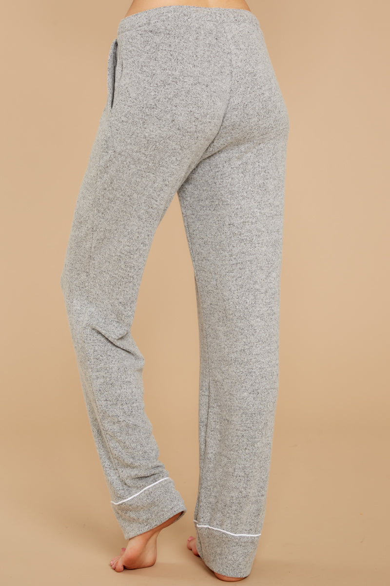 3 Luxe Menswear Pajama Pant In Heather Grey at reddressboutique.com