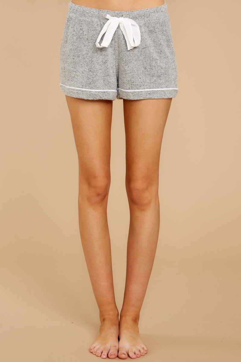 3 Luxe Menswear Pajama Short In Heather Grey at reddressboutique.com