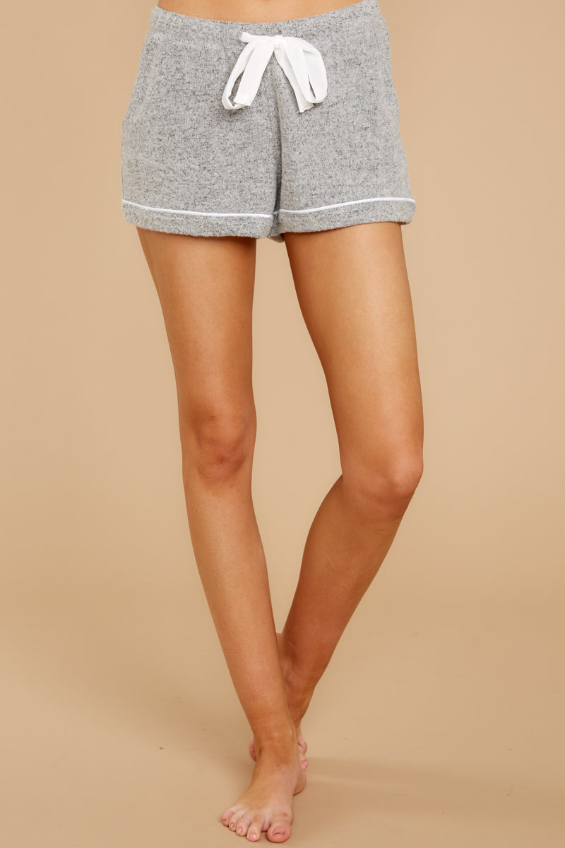 2 The Heather Grey Luxe Menswear Pajama Short at reddress.com