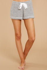 2 Luxe Menswear Pajama Short In Heather Grey at reddressboutique.com