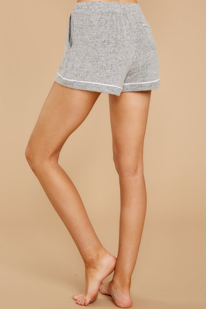 4 The Heather Grey Luxe Menswear Pajama Short at reddress.com