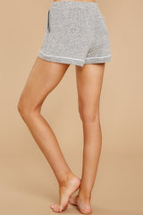 4 Luxe Menswear Pajama Short In Heather Grey at reddressboutique.com