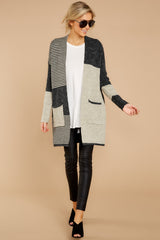 2 Chill It Out Multi Grey Cardigan at reddressboutique.com