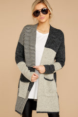 3 Chill It Out Multi Grey Cardigan at reddressboutique.com