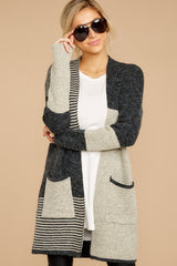4 Chill It Out Multi Grey Cardigan at reddressboutique.com