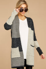 5 Chill It Out Multi Grey Cardigan at reddressboutique.com