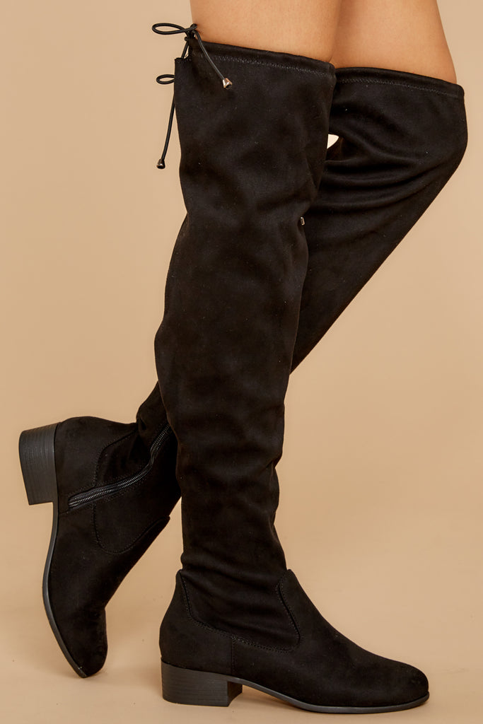 1 Kasidy Black Boots at reddress.com