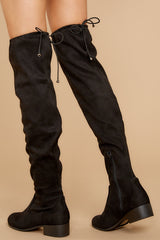 4 Control The Scene Black Over The Knee Boots at reddressboutique.com