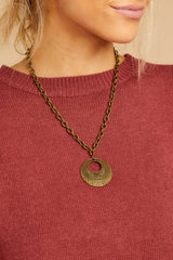 4 Raw And Rebellious Envy Me Gold Pendant Necklace at reddressboutique.com