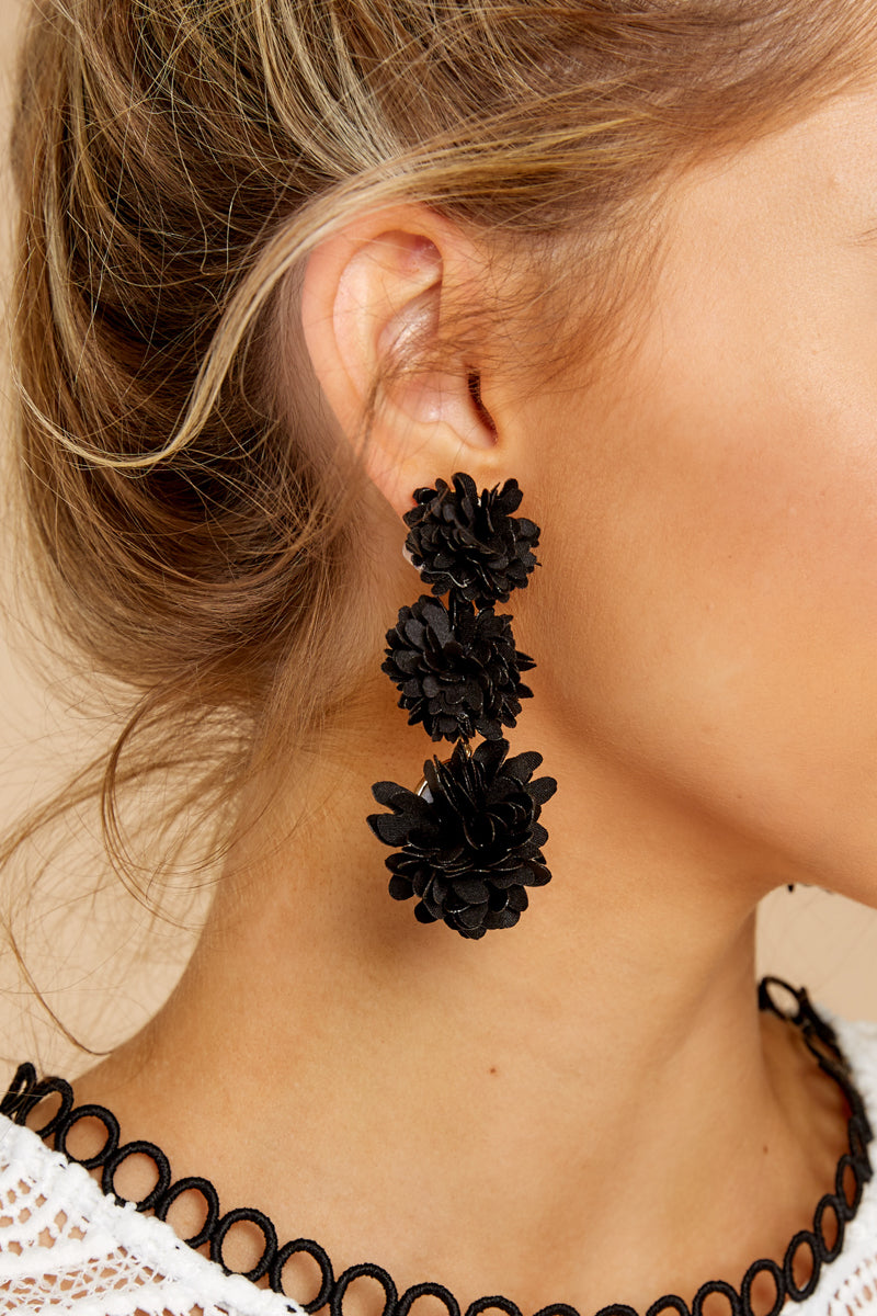 2 For A Little While Black Earrings at reddressboutique.com
