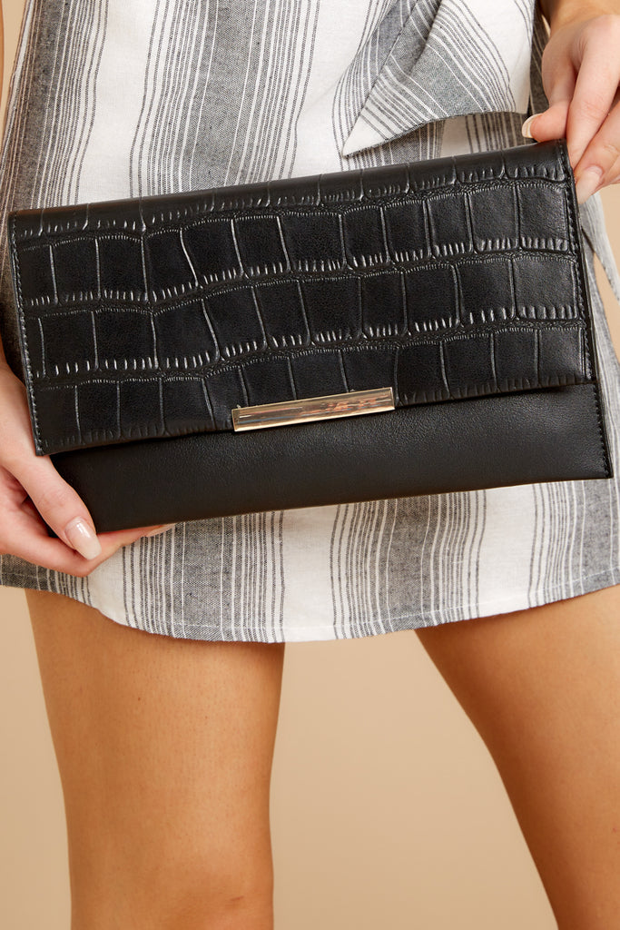 1 Going Out Black Clutch at reddressboutique.com