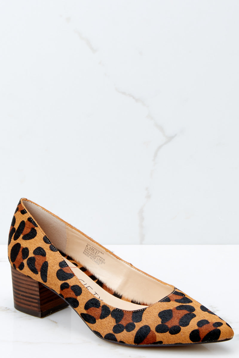 4a753b1fc16f Sole Society Andorra Pumps - Leopard Print Block Heels - Shoes - $89 ...