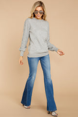 1 Wandering Through Winter Grey Sweater at reddressboutique.com