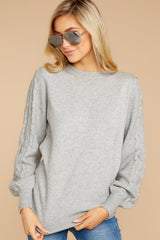 3 Wandering Through Winter Grey Sweater at reddressboutique.com