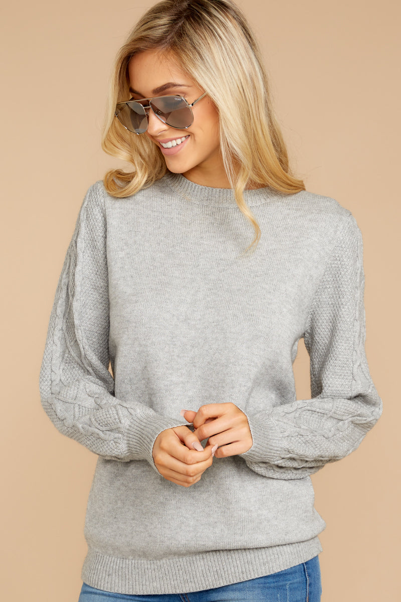 4 Wandering Through Winter Grey Sweater at reddressboutique.com