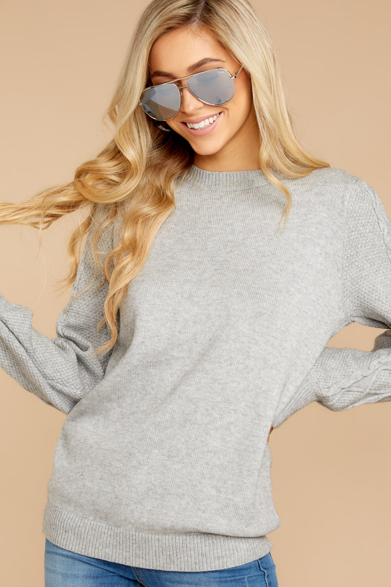 5 Wandering Through Winter Grey Sweater at reddressboutique.com