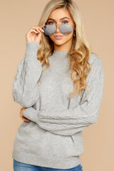 6 Wandering Through Winter Grey Sweater at reddressboutique.com