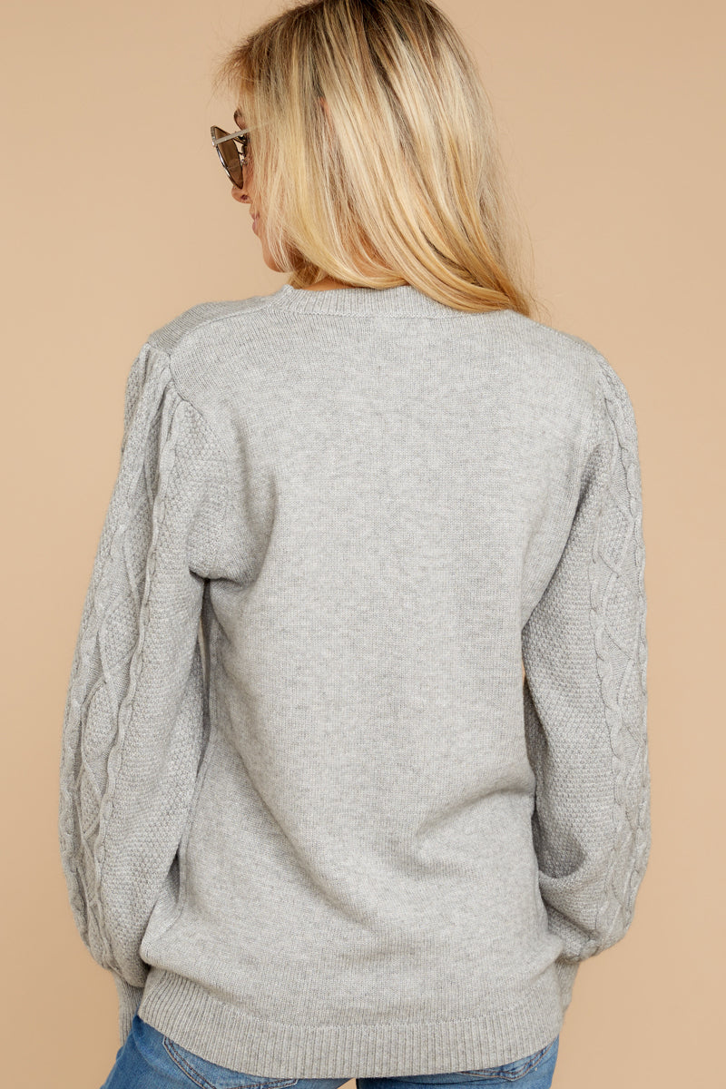 7 Wandering Through Winter Grey Sweater at reddressboutique.com