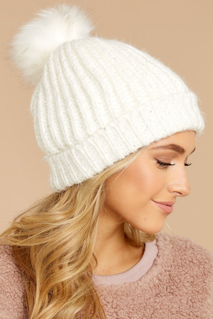 1 Crisp Mornings Coral Multi Knit Hat at reddress.com