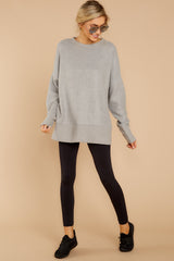 1 Day After Day Heather Grey Sweater at reddressboutique.com