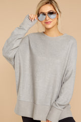 Day After Day Heather Grey Sweater