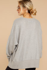 6 Day After Day Heather Grey Sweater at reddressboutique.com